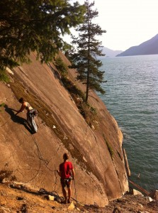 Rock climbing in Seal Cove, Squamish