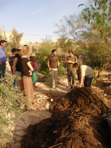 Geoff Lawton, one of the founders of the permaculture movement, teaches the Berkley compost method at  permaculture course in Jordan.