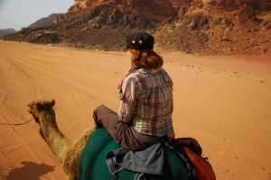 Trying out the authentic camel-riding nomadic life-style in Jordan.